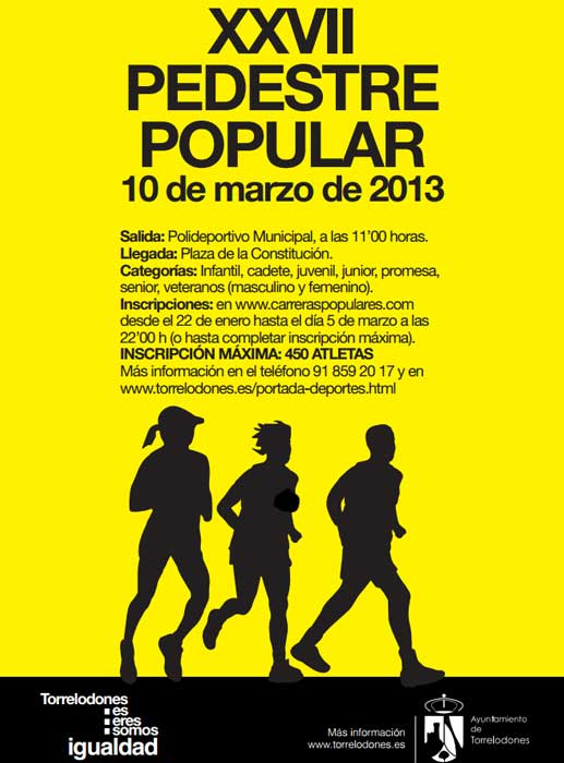 Cartel Carrera Pedestre Popular de Torrelodones 2013