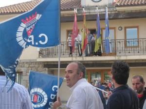 Concentración de protesta de la Policía de Torrelodones contra el gobierno municipal  (16-4-2013)