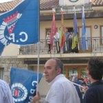 Concentración de protesta de la Policía de Torrelodones contra el gobierno municipal