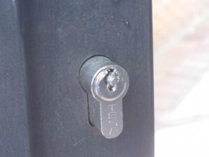 Cerradura que intentaron forzar pero no pudieron abrir