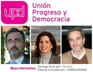 Mesa Informativa de UPyD en Torrelodones - 28-04-2013