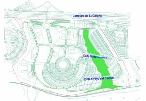 En verde, el suelo público cedido por la Comunidad de Madrid a Torrelodones