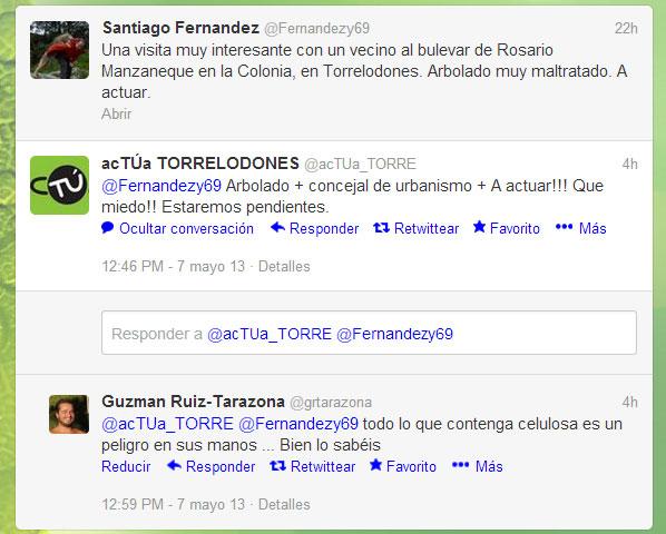 acTÚa responde a Santiago Fernández en Twitter