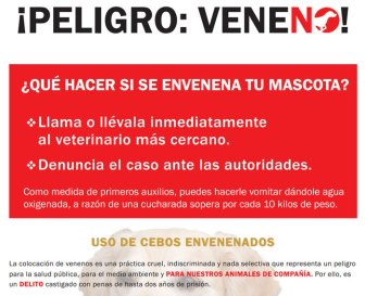 Peligro Veneno (Imagen: Red Canaria Contra el Veneno)