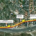 Recorrido líneas 4 y 5 (vuelta) de Julián de Castro durante las fiestas de Torrelodones agosto 2013