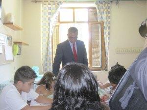 Carlos Izquierdo visita la Residencia Infantil Ntra. Sra. de Lourdes, Torrelodones (Madrid)