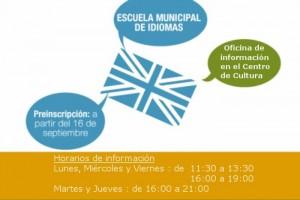 El 16 de septiembre 2013 abre la preinscripción para la Escuela de Inglés de Hoyo de Manzanares