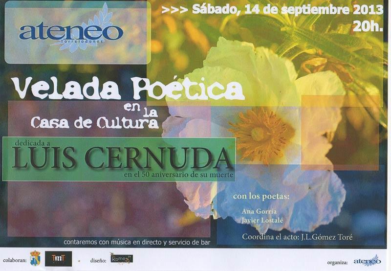 El Ateneo de Torrelodones organiza una Velada Poética homenaje a Luis Cernuda