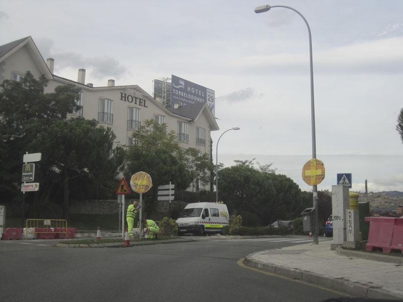 Acceso a la calle Ribadesella