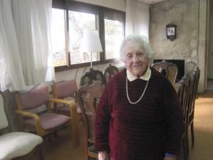 Trini Muñoz, la víspera de su 100º cumpleaños. No necesita gafas, oye perfectamente, anda sin bastón y conserva una memoria envidiable