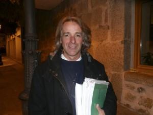 Rubén Díaz, portavoz de acTÚa, al salir del Pleno de Presupuestos 2014