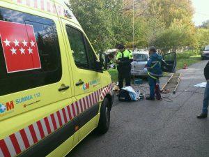Accidente laboral en c/Dr. Huertas (Foto: Protección Civil Torrelodones)