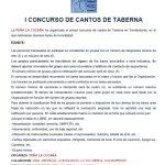 I Concurso de Cantos de Taberna organizado por la Peña La Cucaña de Torrelodones