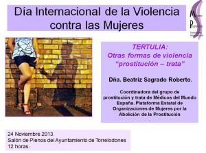 24 Noviembre: Tertulia «Otras formas de violencia, prostitución – trata»