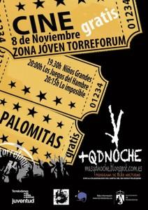 Este viernes 8-11-13 Cine + Palomitas gratis en la Zona Joven de Torrelodones
