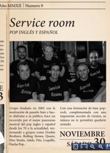 Service Room tocará el sábado 30 de noviembre en Marboré