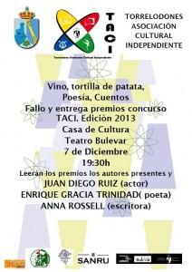 Fallo y entrega de Premios I Concurso de Poesía y Narrativa breve TACI