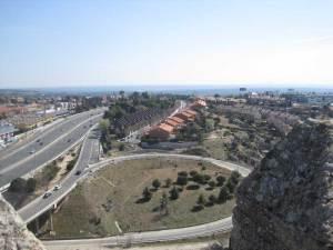 A-6 vista desde lo alto de la Torre de los Lodones