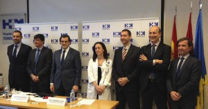 De izda. a dcha Dr. Mascías, M. Bueno, Dr. Abarca, Dra. Múgica, J. Focinos, J.L. Sánchez y Dr. Peláez