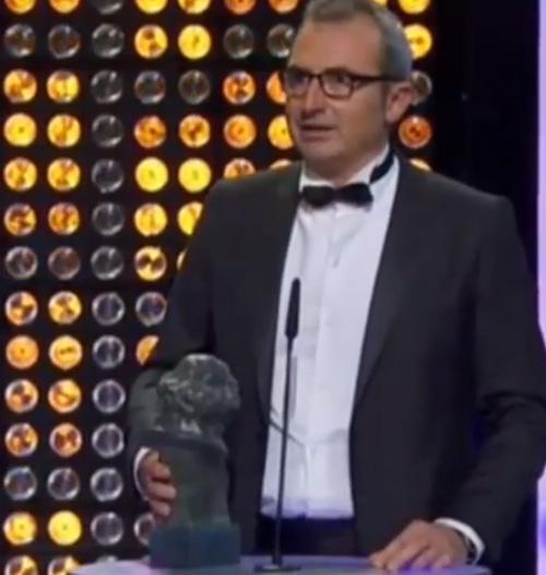 Mariano Barroso al recoger el Goya (Foto: captura de vídeo de TVE)