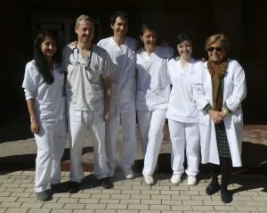 El consejero de  Sanidad saludó al personal del SAR de Torrelodones