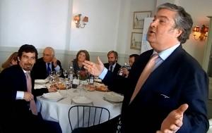 Arturo Martínez Amorós, en el almuerzo-coloquio con el sector del deporte de Torrelodones