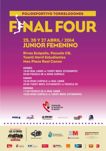 Fase Final Junior Femenino - 25, 26 y 27 de abril 2014 en Torrelodones