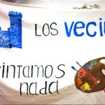 Pancarta preparada por los alumnos de pintura para protestar el domingo