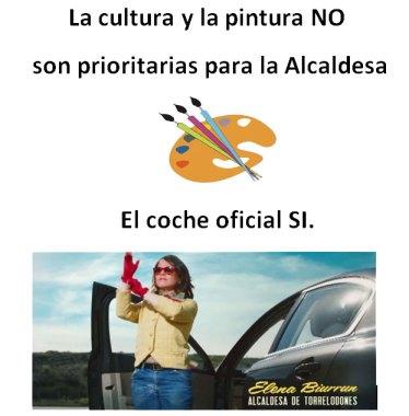 Cartel protesta alumnos de pintura de Torrelodones
