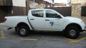 La furgoneta municipal que supuestamente fue prestada para uso privado