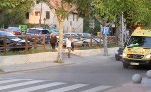 Parking público frente a la estación Torrelodones