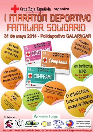 31 de Mayo: I Maratón Deportivo Familiar Solidario de Cruz Roja en Galapgar-Colmenarejo