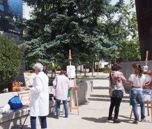 Protesta alumnos de pintura de Torrelodones