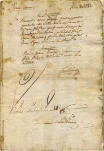El Documento más antiguo del Archivo Municipal de Torrelodones es de 1741 (Cortesía de la Archivera Municipal)