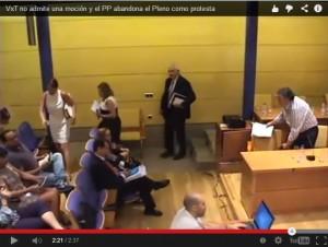 El PP abandonó el Pleno porque VxT no admitió su moción para aclarar el coste del Embalse de Peñascales