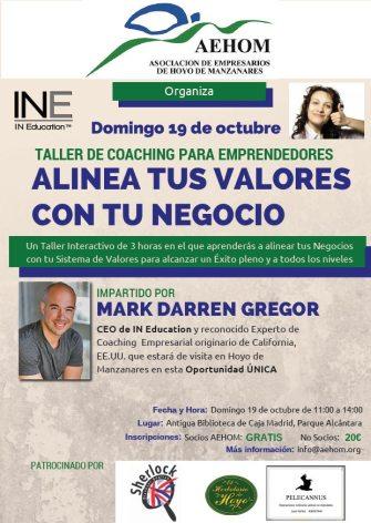 """La Asociación de Empresarios de Hoyo de Manzanares (AEHOM), invita al """"Taller de Coaching para Emprendedores y Empresarios"""""""