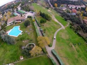 Vista aérea del Nuevo Club de Golf de Madrid, cortesía de Visiofree.es