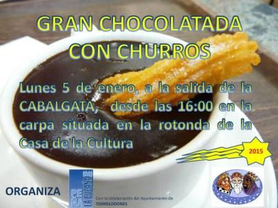La Peña La Cucaña de Torrelodones invita a chocolate con churros al inicio de la Cabalgata