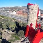 Fotografía aérea de la Torre a medio vestir, gentileza de Visiofree.es