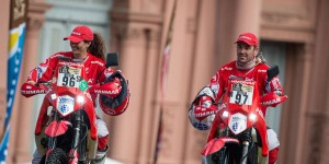 Rosa Romero y Antonio Gimeno - Salida del Rally Dakar 2015