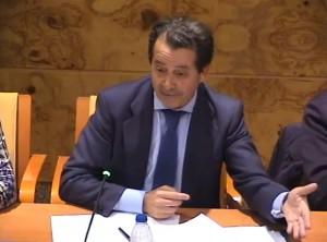 El portavoz del Grupo Popular Javier Laorden, durante el Pleno del 13-1-15 (Foto: Captura de vídeo)