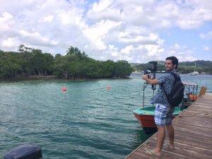Álvaro Hernández Blanco rodando en el Caribe