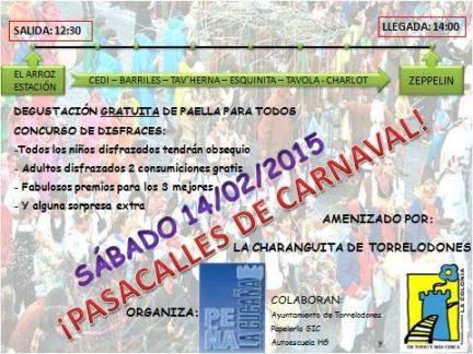 Nuevo Pasacalles de Carnaval organizado por la Peña La Cucaña de Torrelodones