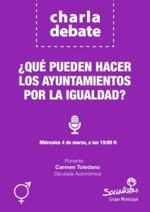 Charla debate organizada por el PSOE de Torrelodones sobre Igualdad de Género