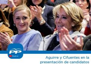 Cristina Cifuentes y Esperanza Aguirre (Imagen: Partido Popular de Madrid)