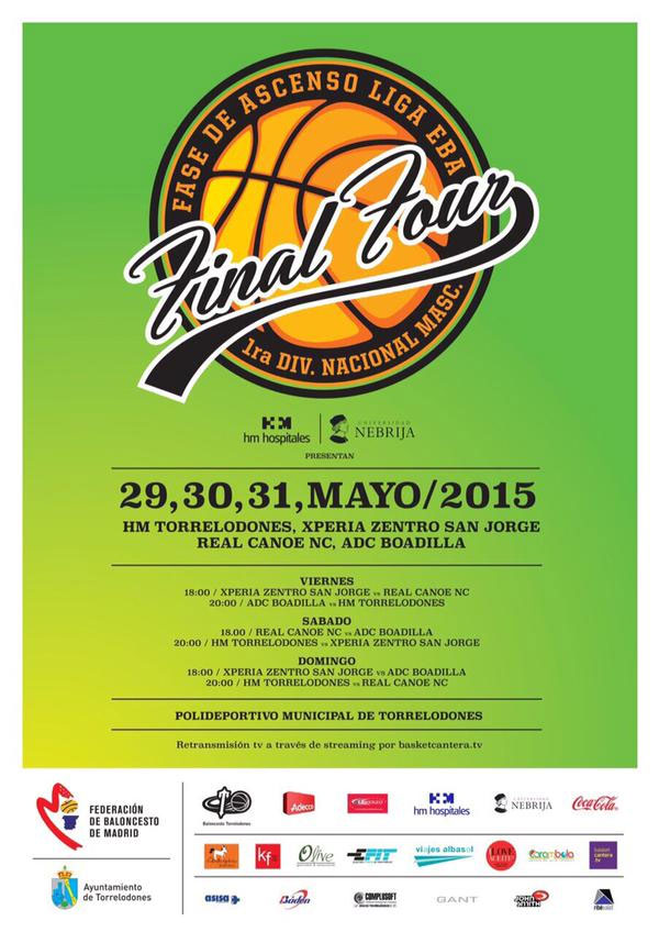 Final Four - Ascenso Liga EBA - Torrelodones 29, 30 y 31 de mayo 2015