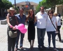 Candidatas de UPyD, Confluencia e IU, junto al candidato de Ciudadanos y el presidente del PP de Torrelodones