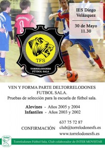 Pruebas Torrelodones Fútbol Sala para Alevines e Infantiles