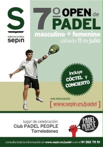 7º Open de Padel de Editorial Sepin (Club Padel People de Torrelodones)