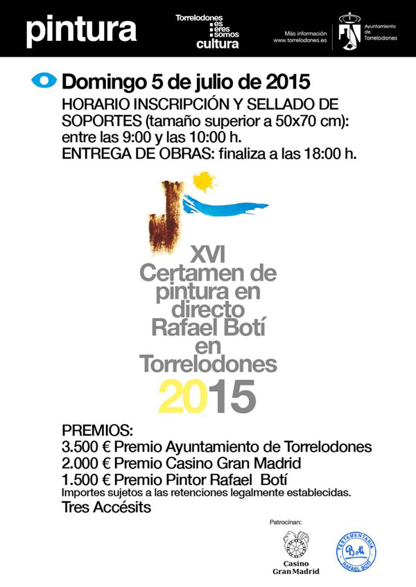 Certamen Pintura en Directo Rafael Botí, Torrelodones 2015